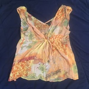 NWOT- beautiful sheer sleeveless top
